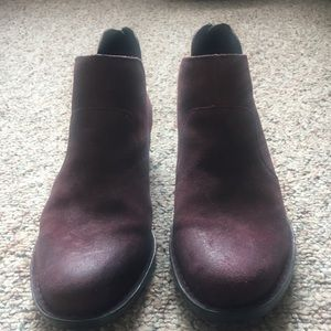 Born Burgundy Cut Out Ankle Boot *replaced insert